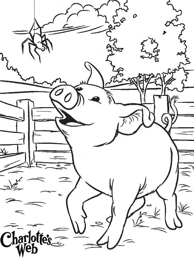 charlottes web character coloring pages - photo#8