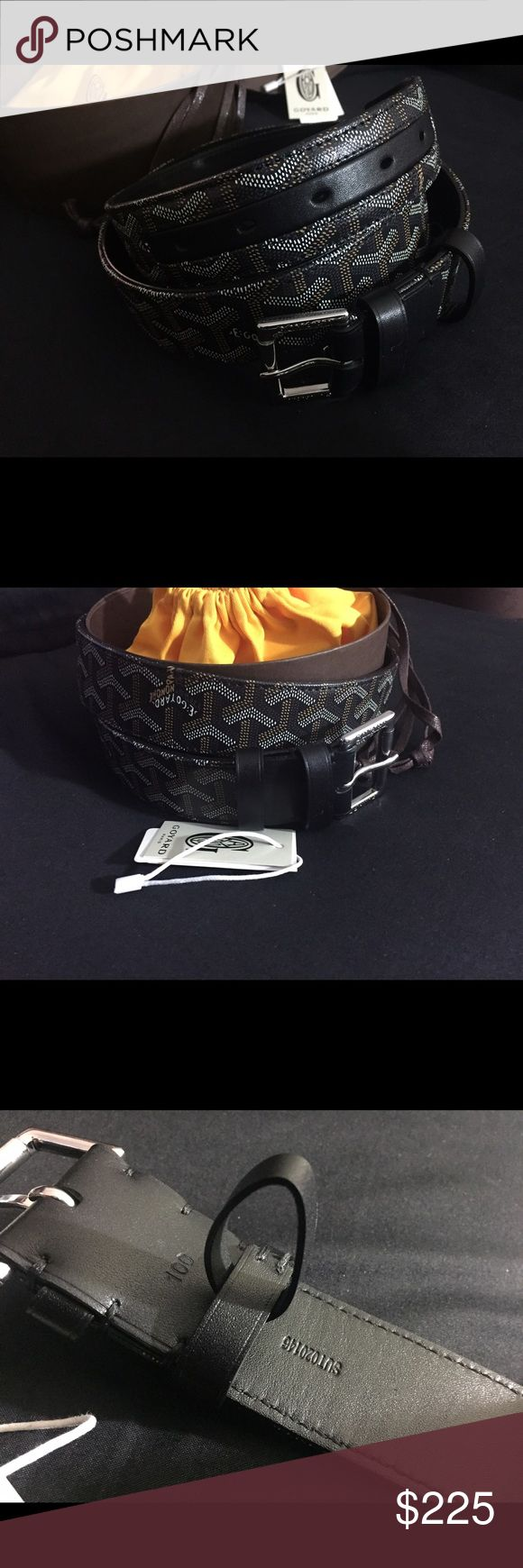 Black Goyard Belt Authentic Brand new in box with dust bag. Goyard Accessories Belts