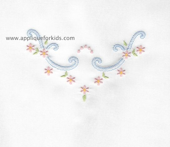 Shadow Work & Embroidery :: Flowers :: Shadow Flower Scroll