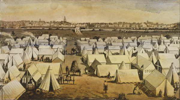 Canvas town, South Melbourne, Victoria 1850s
