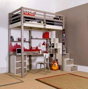 階段付きロフトベッドの選び方と参考になるコーデ10選 th_Boy-Loft-Bed-Design