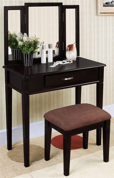 Ria Black Makeup Table Set #modern #vanity