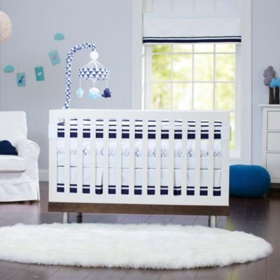 Just Born® Safe Sleep Collection Crib Bedding in Navy - buybuyBaby.com