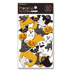 Halloween Spongy Sticker Flakes Sack Mindwave   Ghosts and Pumpkins