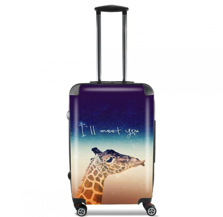 Valise Giraffe Love - Gauche cabine trolley personnalisée