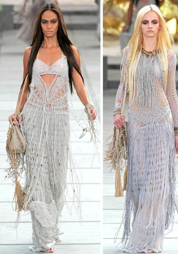 Blogs - Van plantenhanger tot Gucci dress: macramé! Roberto Cavalli L/Z 2011