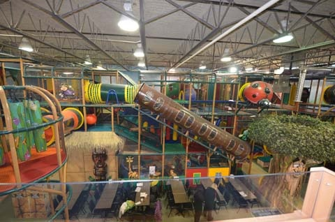 The indoor playground at our FEC training center. Wider top view on the indoor playground. The Great Escape in #Langley #BC www.thege.ca