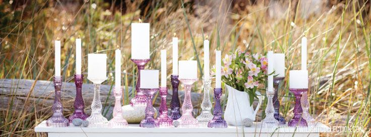 Bella Candle Holders - retro inspired pillar and taper candle holders
