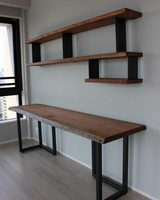 Nenhuma descri o de foto dispon vel metal madera en for Muebles industriales metal baratos