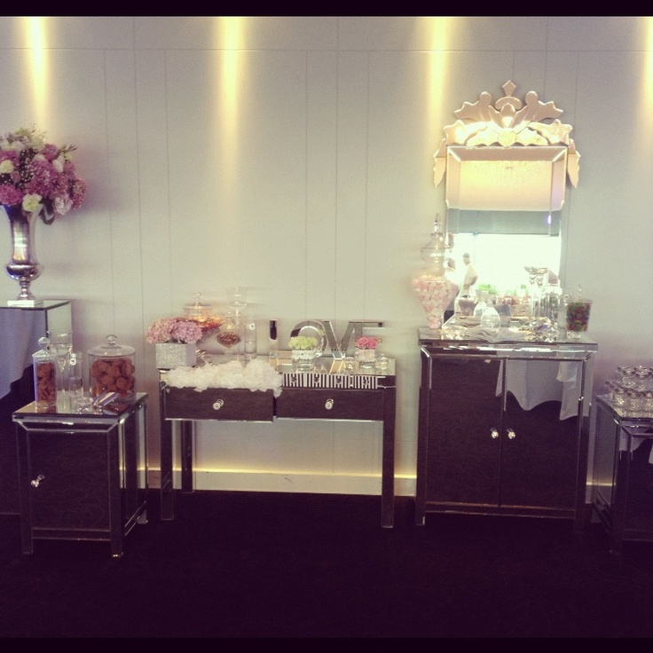 Mirrored lolly buffet!!