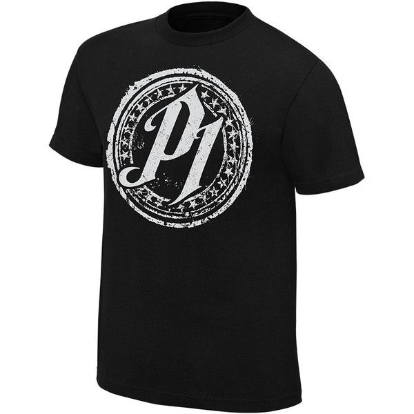 "AJ Styles ""P1"" Special Edition T-Shirt ❤ liked on Polyvore featuring tops, t-shirts, cotton tee, shirt top, cotton shirts, classic fit shirt and cotton t shirts"