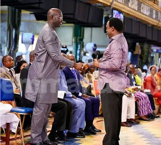 TB Joshua speaks on Liberia election as George Weah goes spiritual visits church in Lagos [PHOTOS]