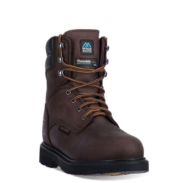 McRae Industrial Men's Insulated Waterproof Work Boots, Size: medium (10.5), Dark Brown