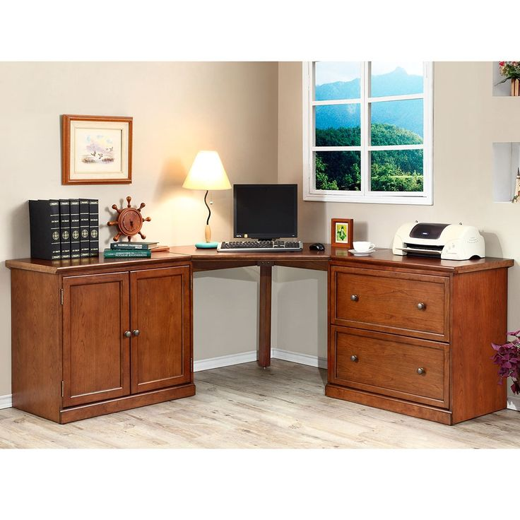 Corner Desk with Storage | National Business Furniture