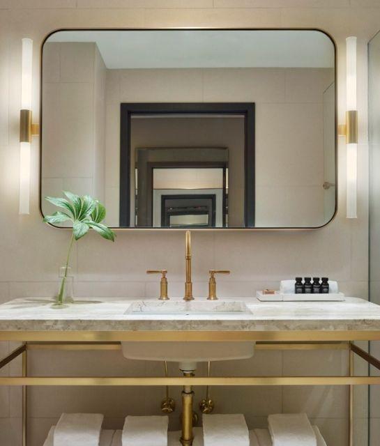 Bathroom - 11 Howard in New York City, USA brass vanity