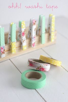 From plain to oh so cute with Washi tape