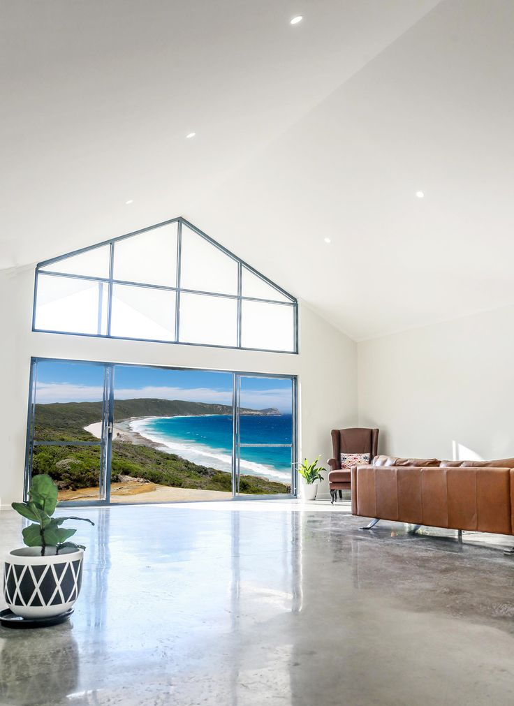 A big bright room in Western Australia. Love the polished concrete floors! <3