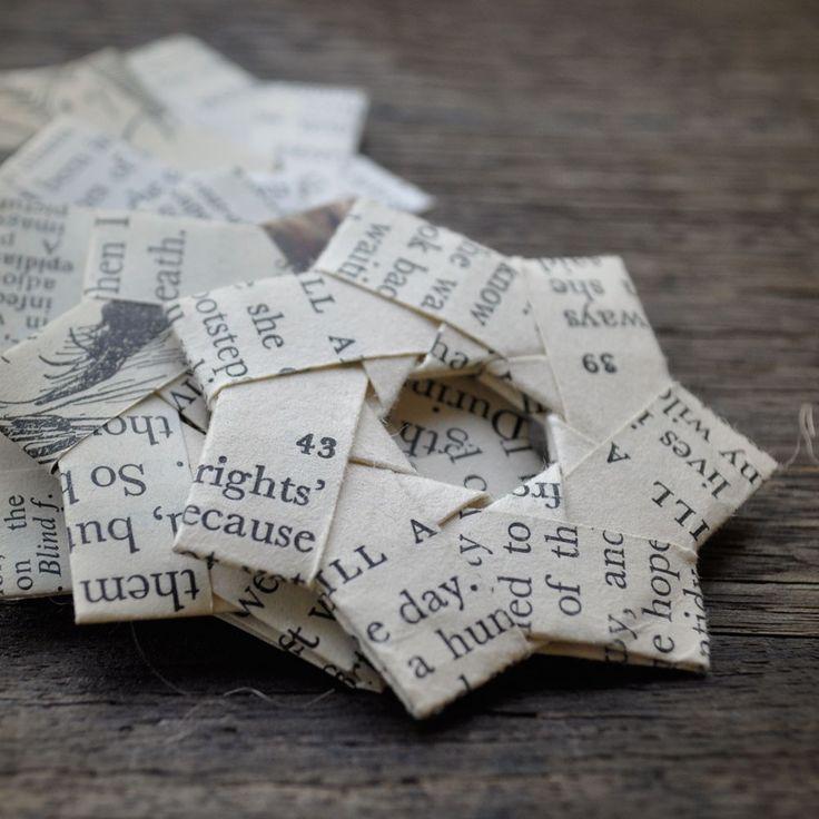 stars, folded vintage paper ~ shepin tea
