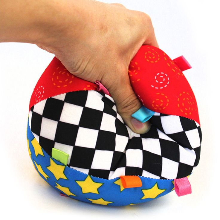 Colorful Baby Children's Ring Bell Ball Baby Cloth Music Sense Learning Toy Ball Educational Cotton Hand Grasp Ball