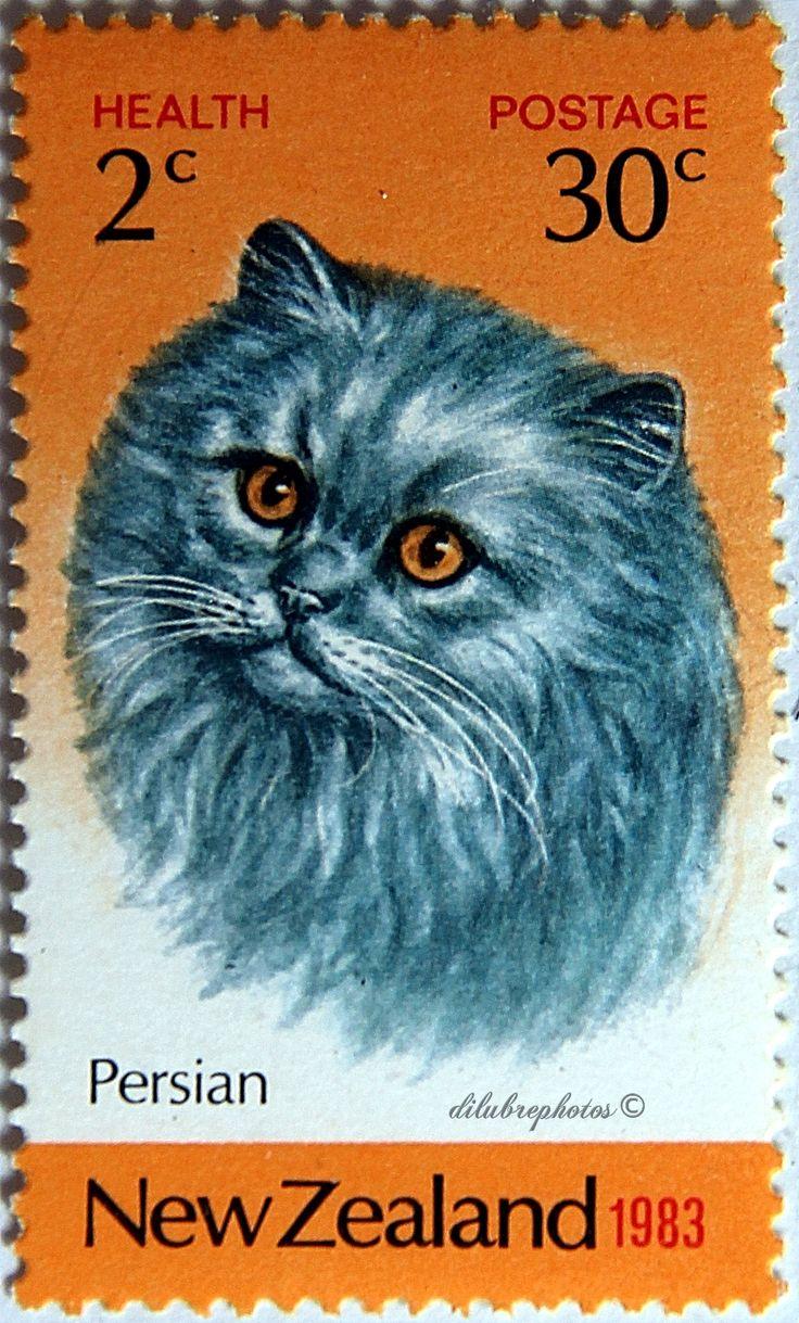 New Zealand.  PERSIAN CAT.  Scott SP58 B117, Issued 1983 Aug 3, Litho., Perf. 14 1/2, 2+30. /ldb.
