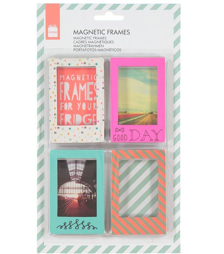 Magneetlijstjes voor je Instax kiekjes: leuk voor op de koelkast!