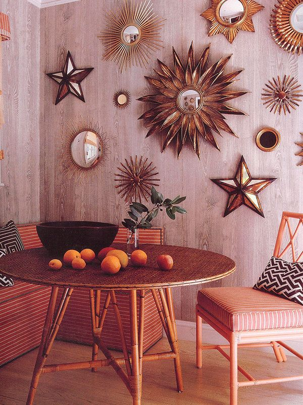 Espejos de sol magia vintage ideas para el hogar for Decoracion espejo pared