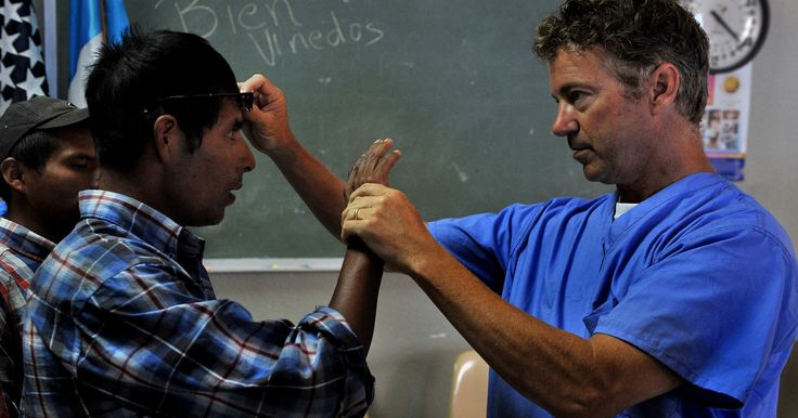 Trust him, he's a doctor.Rand Paul Offers Free Eye Exam With Deportation