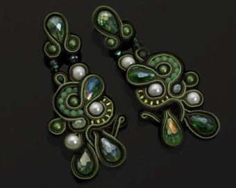 "Soutache earrings ""Arames"""