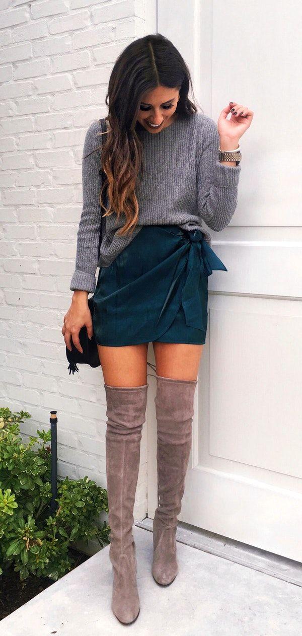 #fall #outfits women's gray sweatshirt