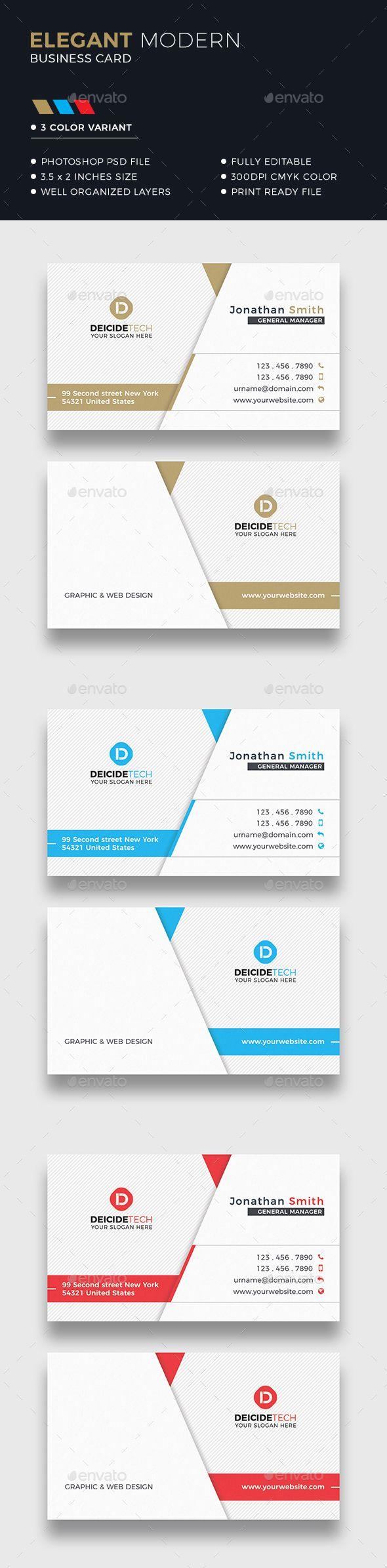 Corporate Business Card by Dkgray Corporate business card made for companies or personal use. FEATURES 300DPI CMYK Color Print ready Horizontal align3.75脳2.25 in wi