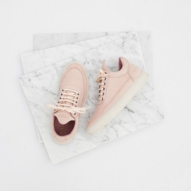 """Filling Pieces Footwear op Instagram: """"Exclusively for women, Filling Pieces' Low Top Rainbow Poetry. Part of the limited Rainbow capsule collection. Made from premium pastel pink tanned nubuck. Now available at www.fillingpieces.com"""""""