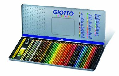 Giotto Supermina pastelli colorati in scatola di metallo da 50pz: Amazon.it: Giochi e giocattoli