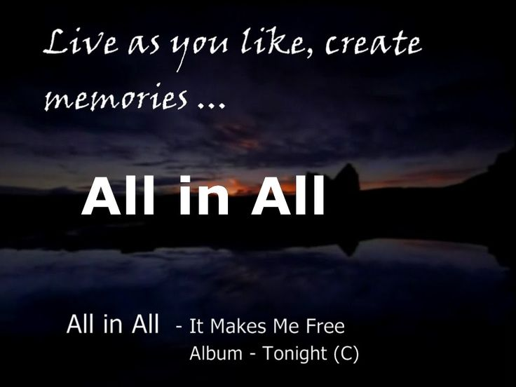 All in All - It Makes Me Free - Gratest Hits Of Rock - (Progressive Rock...
