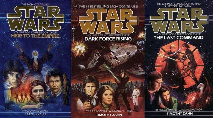 """""""Star Wars - The Thrawn Trilogy"""" (Heir to the Empire, Dark Force Rising, The Last Command) by Timothy Zahn [Erben des Imperiums, Die dunkle Seite der Macht, Das letzte Kommando]"""