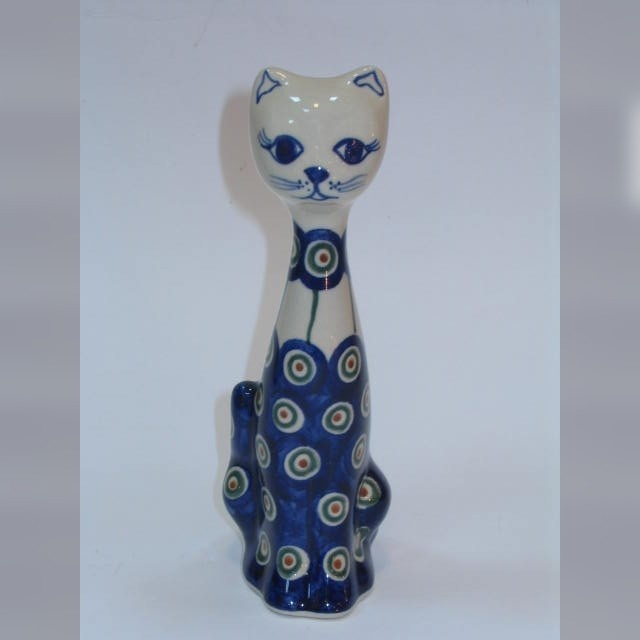 distinguished cat - Boleslawiec Polish Pottery