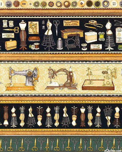 Seams Like Old Times - Sewing Room Stripe - Warm Beige