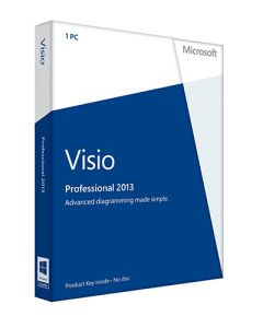 Visio Professional 2013 is easier than ever for individuals and teams to create and share professional, versatile diagrams that simplify complex information.  It also adds additional stencils for business and engineering diagram, process diagrams, maps and floor plans, network diagrams and software and database diagrams.
