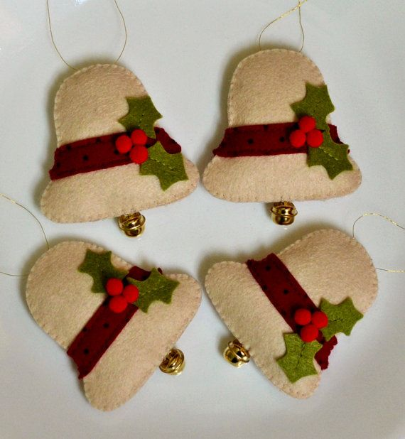 100 Acrylic Felt Christmas Bells by teafueledshenanigans on Etsy, $18.00