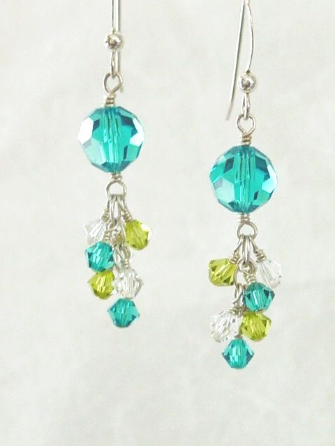 Swarovski Crystal Round Fringe Earring - Custom Choices