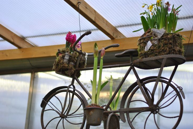 Bicicletta fiorita.