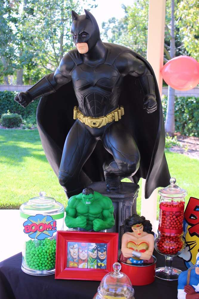 Awesome superhero birthday party! See more party ideas at CatchMyParty.com!