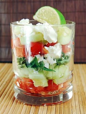 Quelle belle salade grecque en verrine pour l'été... #GlassIsLife