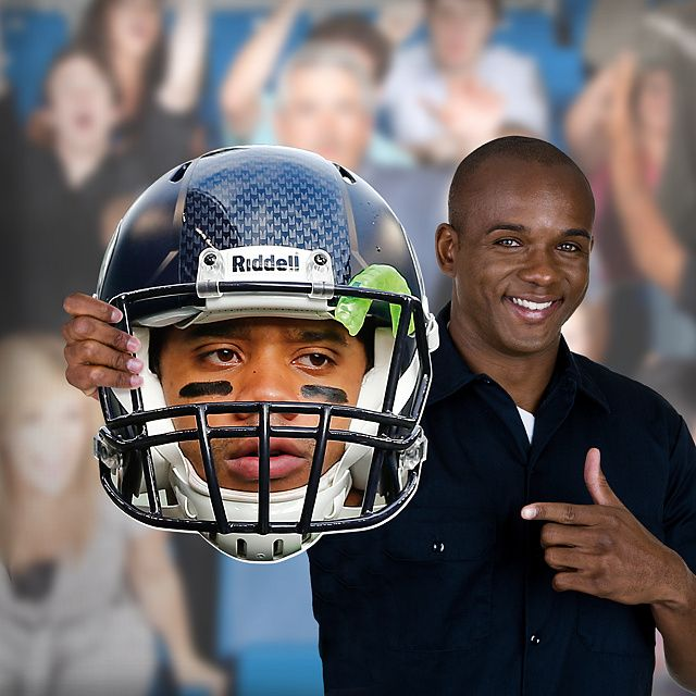 Unlike giant cardboard faces or other player head photos, NFL Big Heads are sturdy and big enough to stand out in any crowd. There's no better way to prove you're a fan than with an officially licensed NFL Fathead Big Head. SHOP  http://www.fathead.com/nfl/seattle-seahawks/russell-wilson-game-day-big-head-cut-out/