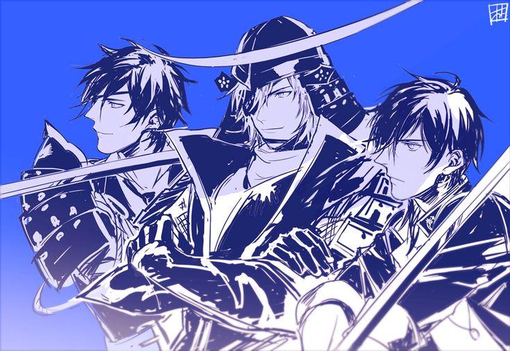 Pixiv Id 1727102, Touken Ranbu, Sengoku Basara, Shokudaikiri Mitsutada, Date Masamune (Sengoku Basara), Ookurikara