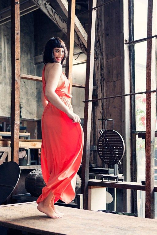 Dancing on the table, Dress: ASOS  Photographer: Carla Coulson, Model: Miss Pirisi, Location: Paris atelier 6eme