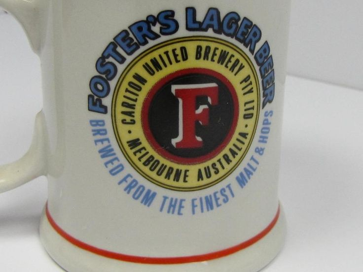 COLLECTIBLE: Australian Breweries FOSTER S LARGER BEER TANKARD