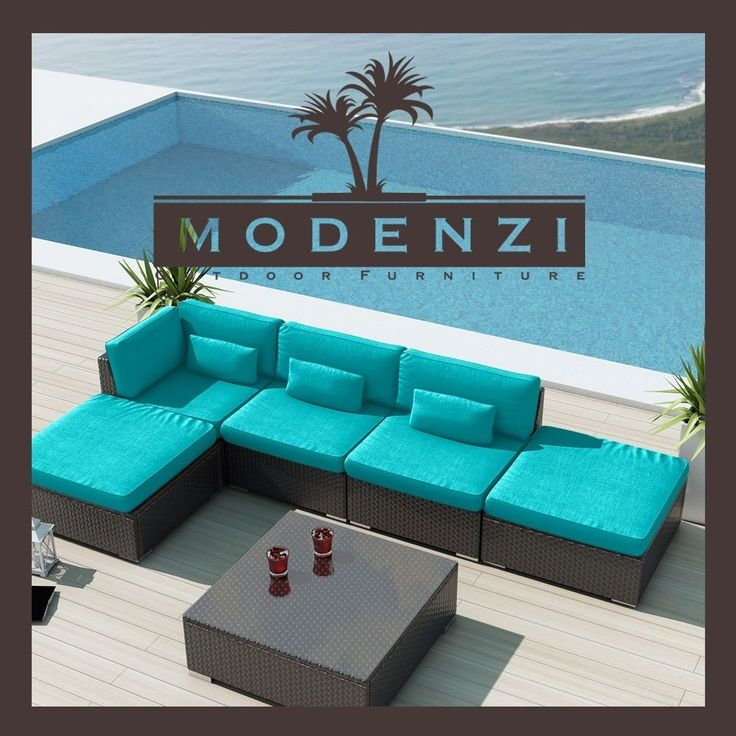 6L U Outdoor Wicker Rattan Sectional Patio Furniture Sofa Set OPTIONAL SUNBRELLA #Modenzi