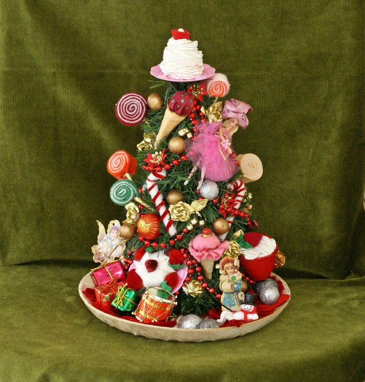 A whimsical mini Christmas Tree perfect for your Christmas decoration, as a table centerpiece decor. It's ideal as nursery Christmas decor, baby shower decor, a baby shower gift; the possibilities are endless