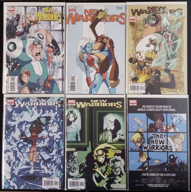 New Warriors #1-6 complete (2005, Marvel) NM Civil War Zeb Wells & Skottie Young