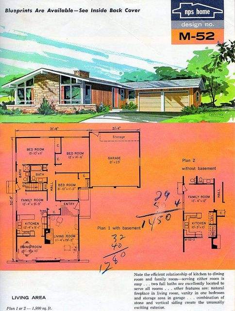 127 best images about mid century modern house plans and for Vintage garage plans